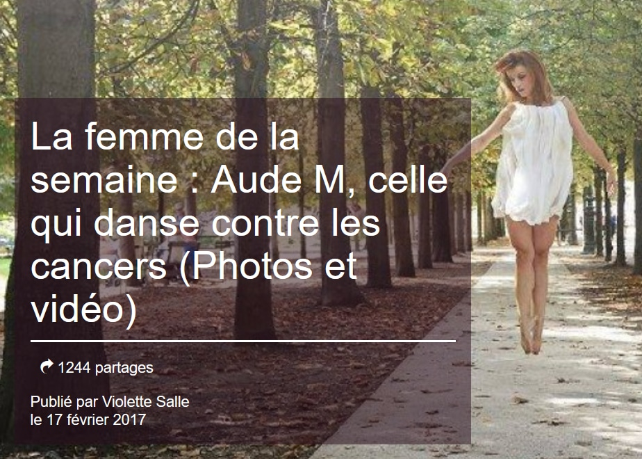 article aufeminin.com la femme de la semaine : Aude M