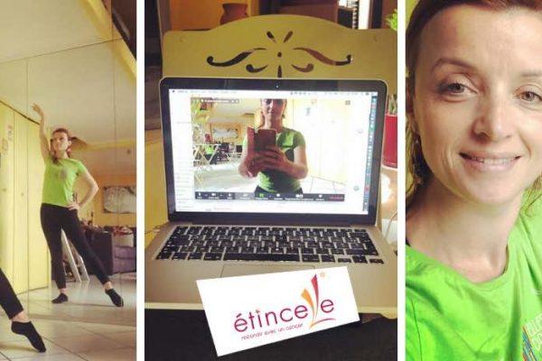 Cours de danse en video et en direct pour les adhérents de l'association Etincelle