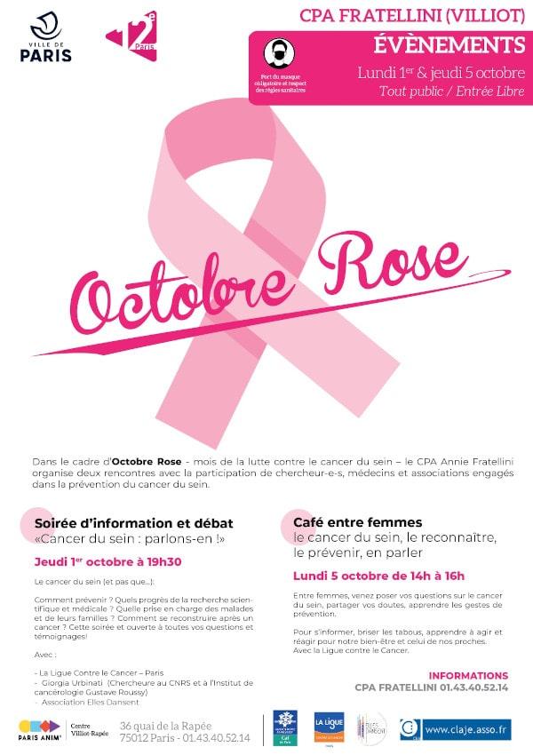 Octobre Rose 2020 Cancer du sein parlons en